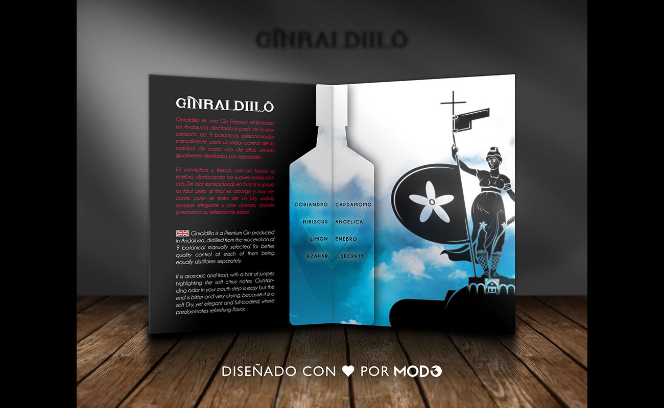 Diseño de bebida Ginraldillo Gin de Sevilla por MODO3