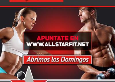 Diseño de Cartel Publicitario para AllStarFit por MODO3