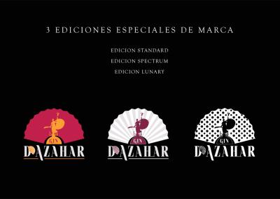 Diseño de marca D'Azahar Gin Premium por MODO3