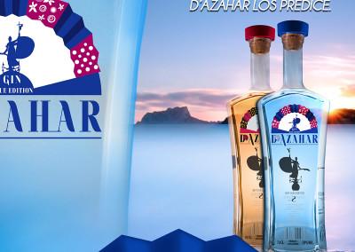 Diseño de Cartel Azahar Gin Premium por MODO3