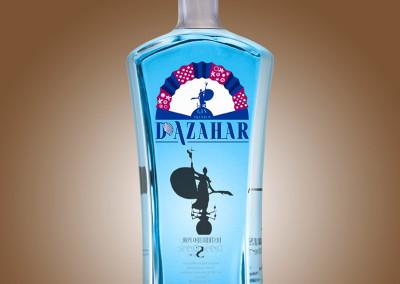 Diseño de D'Azahar Blue Edition Gin Premium para Drinks Drink por MODO3-1053