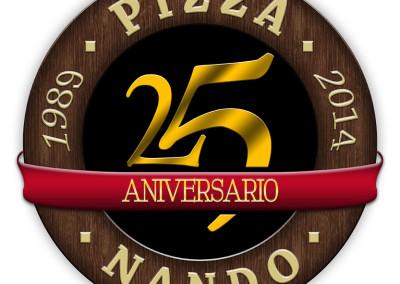 Diseño de marca Pizza Nando por MODO3