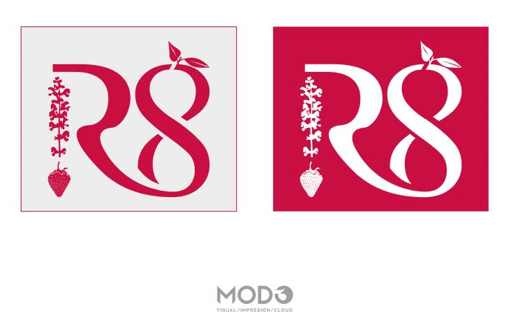 Diseño de marca R8 Gin Premium por MODO3