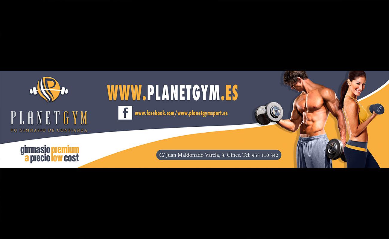 Diseño de Fachada Planet Gym Gines por MODO3